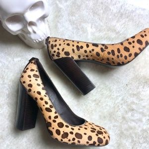 Tory Burch | Leopard Print with Chunky Heels